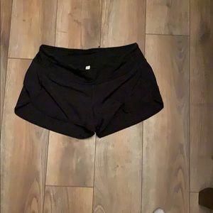 Lulu lemon running shorts black